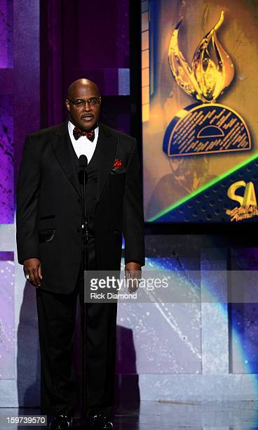 Marvin Winans speaks during the 28th Annual Stellar Awards Show at Grand Ole Opry House on January 19 2013 in Nashville Tennessee