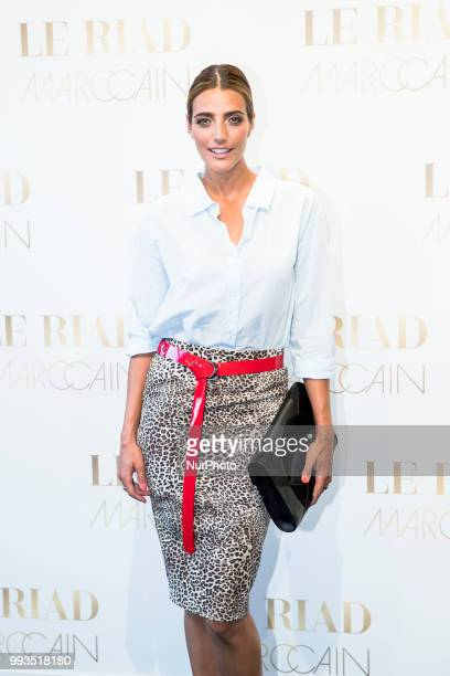 Marvy Rieder arrives to attend the Marc Cain Fashion Show during Berlin Fashion Week Spring / Summer 2019 in Berlin Germany on July 3 2018