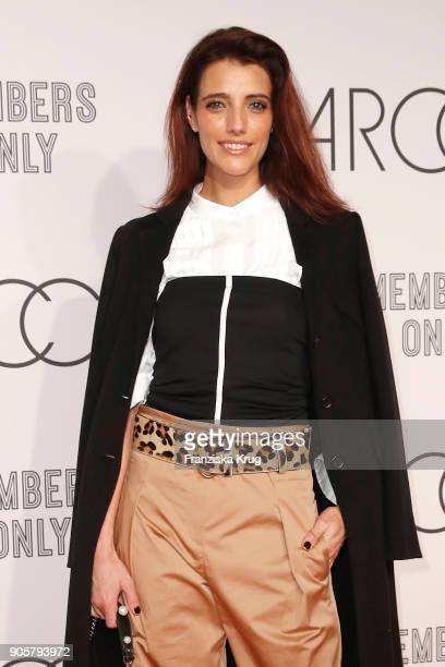 Marvy Rieder during the Marc Cain Fashion Show Berlin Autumn/Winter 2018 at metro station Potsdamer Platz on January 16 2018 in Berlin Germany