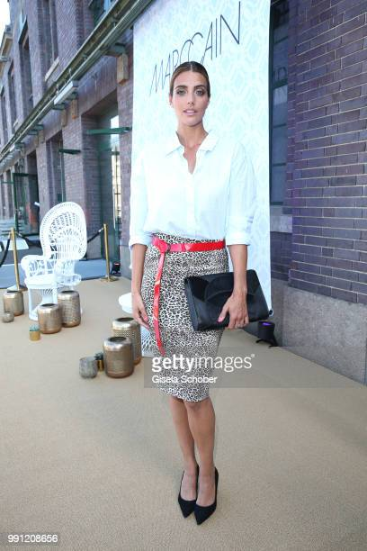 Marvy Rieder during the Marc Cain Fashion Show Spring/Summer 2019 at WEEC Westhafen on July 3 2018 in Berlin Germany