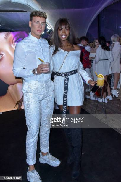 Marvyn Macnificent and Abigail Odoom during the launch of Beetique by Dagi Bee at Spindler Klatt on November 29 2018 in Berlin Germany