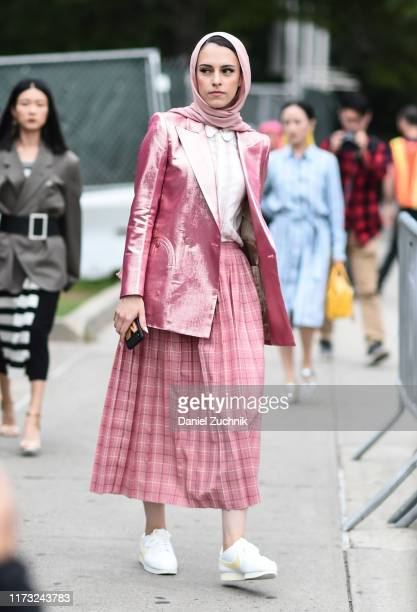 Marwa Biltagi is seen wearing a Tory Burch outfit outside the Tory Burch show during New York Fashion Week S/S20 on September 08 2019 in New York City