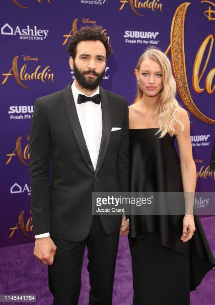 Marwan Kenzari and Nora Ponse attend the World Premiere of Disney's Aladdin at the El Capitan Theater in Hollywood CA on May 21 in the culmination of...