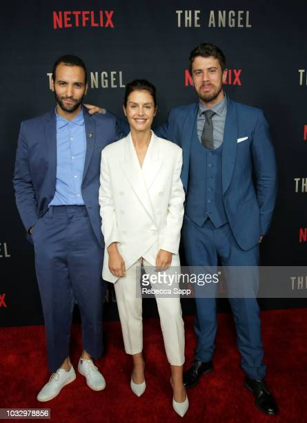 "Marwan Kenzari, Hannah Ware and Toby Kebbell attend the Los Angeles Special Screening of Netflix's ""The Angel"" at TCL Chinese Theatre on September..."