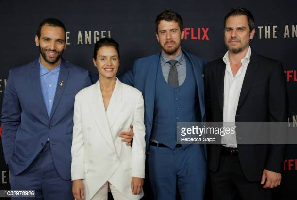 Marwan Kenzari Hannah Ware Toby Kebbell and Ariel Vroman attend the Los Angeles Special Screening of Netflix's The Angel at TCL Chinese Theatre on...