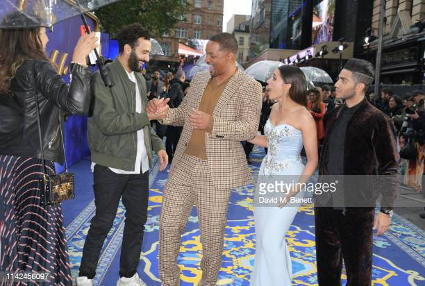 Marwan Kenzari Will Smith Naomi Scott and Mena Massoud attend the European Gala screening of Aladdin at Odeon Luxe Leicester Square on May 9 2019 in...