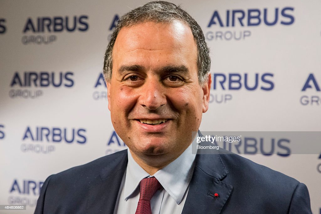 Marwan Lahoud, chief strategy and marketing officer of Airbus Group NV, poses for a photograph during the Airbus annual news conference in Munich, Germany, on Friday. Feb. 27, 2015. Airbus plans to boost production of its workhorse A320 single-aisle aircraft to 50 a month to meet surging demand for more fuel-efficient airliners. Photographer: Martin Leissl/Bloomberg via Getty Images