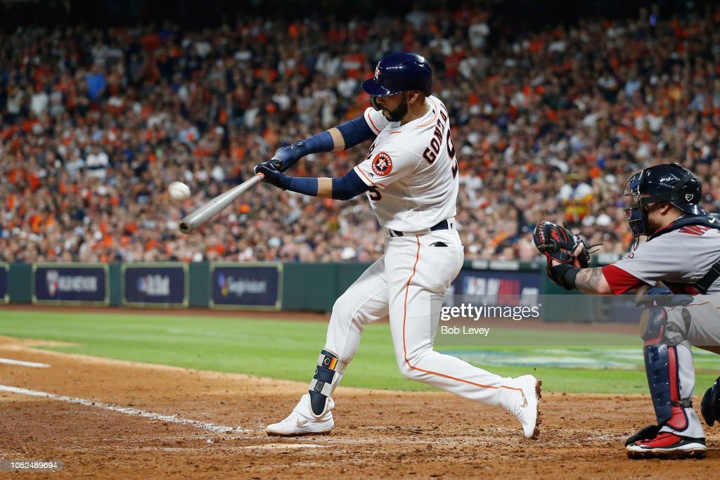 League Championship Series - Boston Red Sox v Houston Astros - Game Five : News Photo
