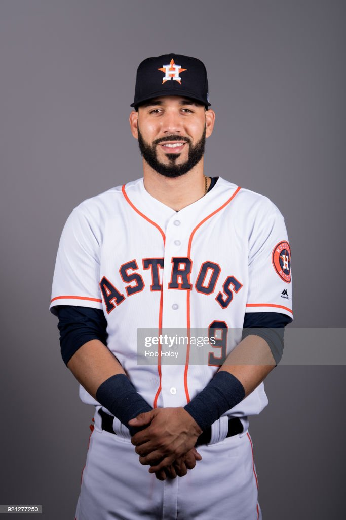 Marwin Gonzalez #9 of the Houston Astros poses during Photo Day on Wednesday, February 21, 2018 at the Ballpark of the Palm Beaches in West Palm Beach, Florida.