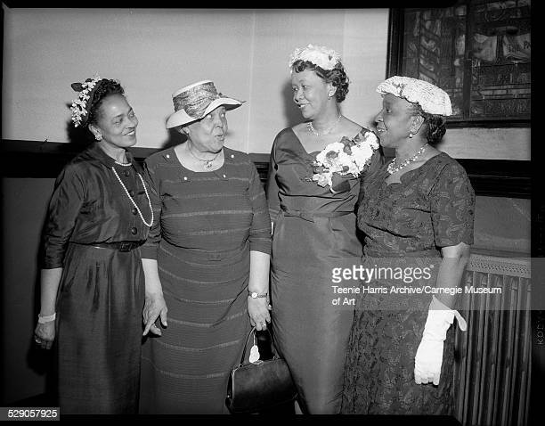 Mary Alexander Daisy E Lampkin Dorothy Height and Mary White gathered for Pittsburgh Council of Negro Women event at Warren Methodist Church...