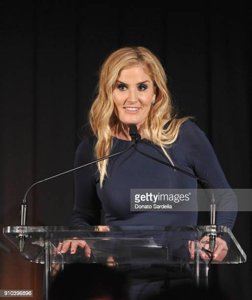 Mary Alice Haney speaks onstage during Learning Lab Ventures Gala in Partnership with NETAPORTER on January 25 2018 in Beverly Hills California