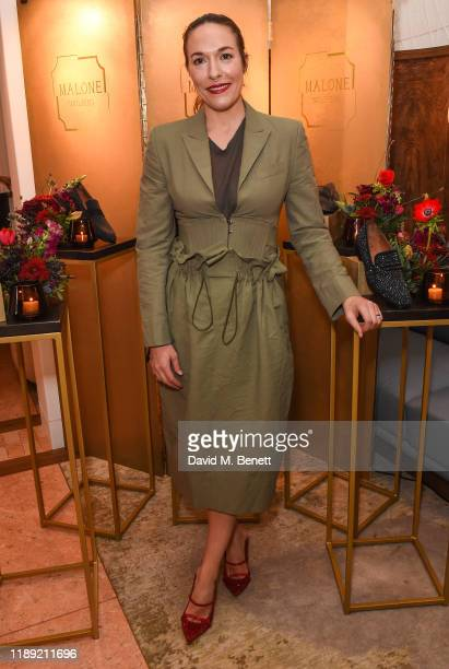 Mary Alice Malone attends the launch of Malone Souliers' Debut Men's Footwear Collection on November 21, 2019 in London, England.