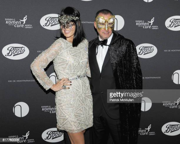 Mary Alice Stephenson and Edward Menicheschi attend VIP MASKED BALL for Susan G Komen Headlined by Sir Richard Branson Katie Couric Cornelia Guest HM...