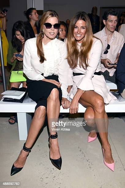 Mary Alice Stephenson and Kelly Bensimon attend Bibhu Mohapatra Spring 2016 during New York Fashion Week The Shows at The Gallery Skylight at...