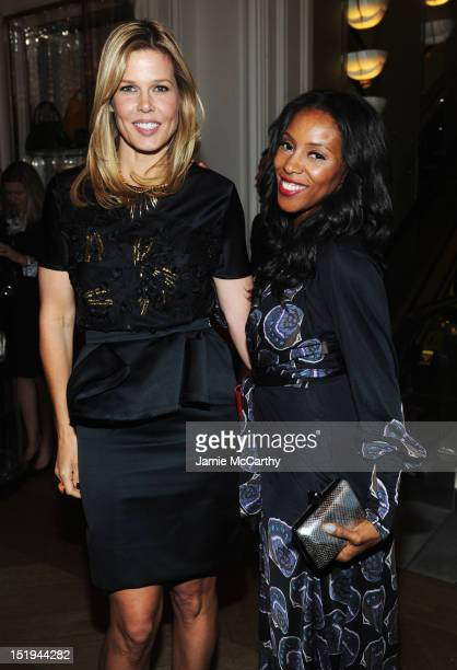 Mary Alice Stephenson and Stylist June Ambrose attend Bergdorf Goodman after party for a special screening of 'Scatter My Ashes at Bergdorf's' in...