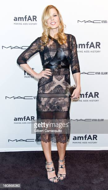 Mary Alice Stephenson attends amfAR New York Gala To Kick Off Fall 2013 Fashion Week at Cipriani Wall Street on February 6 2013 in New York City