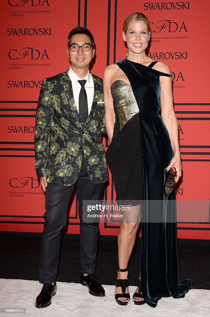 Mary Alice Stephenson (R) attends the 2013 CFDA Fashion Awards on June 3, 2013 in New York, United States.