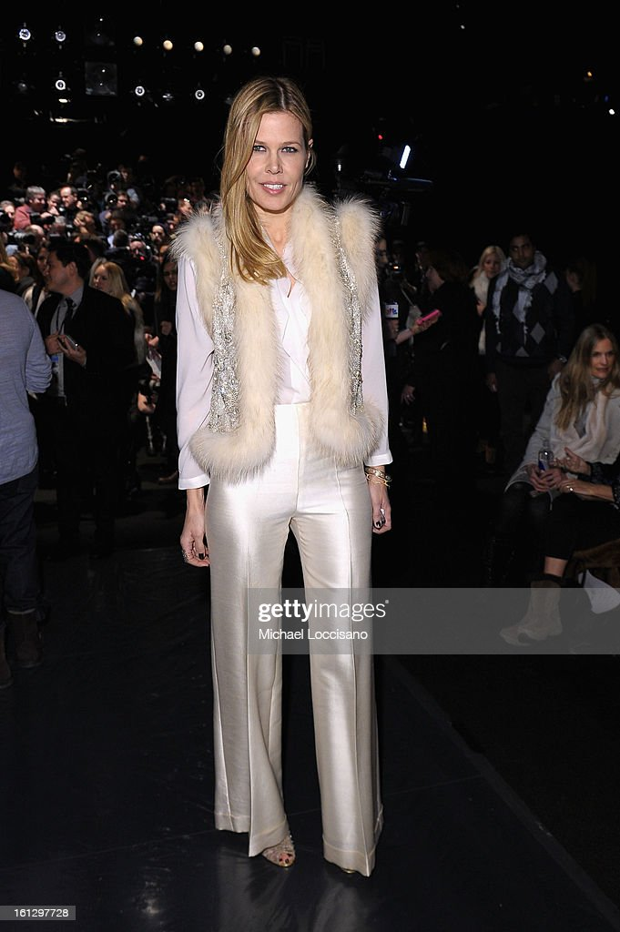 Mary Alice Stephenson attends the Monique Lhuillier Fall 2013 fashion show during Mercedes-Benz Fashion at The Theatre at Lincoln Center on February 9, 2013 in New York City.
