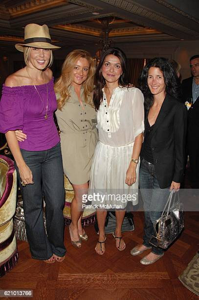 Mary Alice Stephenson Caroline Berthet Filipa Fino and Amanda Ross attend JIMMY CHOO Cocktail Party at Rose Club at the Plaza NYC on August 6 2008