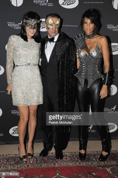 Mary Alice Stephenson Edward Menicheschi and Veronica Webb attend VIP MASKED BALL for Susan G Komen Headlined by Sir Richard Branson Katie Couric...