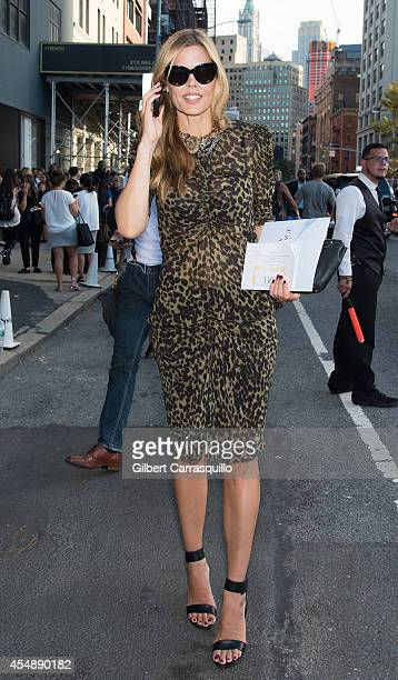 Mary Alice Stephenson is seen at Diane Von Furstenberg fashion show during MercedesBenz Fashion Week Spring 2015 at Spring Studios on September 7...