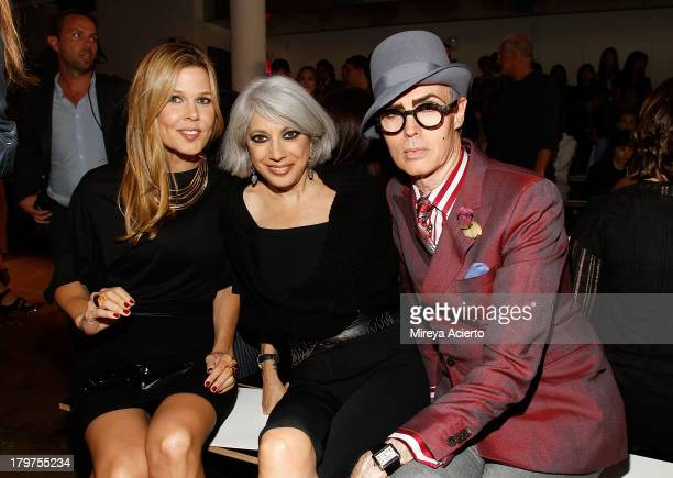 Mary Alice Stephenson Lauren Ezersky and Patrick McDonald attends the Cushnie Et Ochs fashion show during MADE Fashion Week Spring 2014 at Milk...