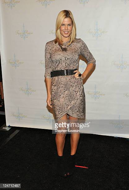 Mary Alice Stephenson poses backstage at the Tracy Reese Spring 2012 fashion show during MercedesBenz Fashion Week at The Studio at Lincoln Center on...