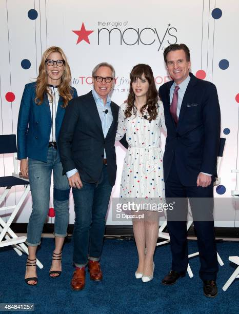 Mary Alice Stephenson Tommy Hilfiger Zooey Deschanel and Macy's president Jeff Gennette attend the To Tommy From Zooey Collection launch at Macy's...