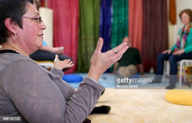 Mary Ann Christie Burnside at her Mindfulness meditation class