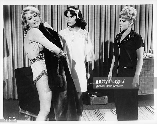 Mary Ann Mobley And Joan O'Brien in a scene from the film 'Get Yourself A College Girl' 1964