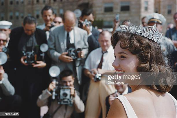 Mary Ann Mobley of Mississippi is crowned Miss America 1959 in Atlantic City New Jersey 6th September 1958