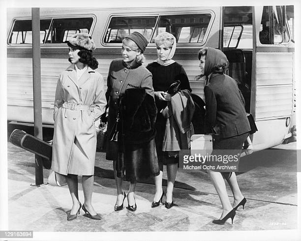 Mary Ann Mobley with other actresses in a scene from the film 'Get Yourself A College Girl' 1964