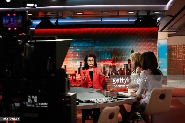 Mary Ann Tighe chief executive officer of New York for CB Richard Ellis speaks during a Bloomberg Television interview in New York US on Monday June...