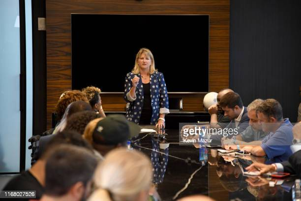 Mary Ann Turcke attends the Roc Nation and NFL Partnership Announcement at Roc Nation on August 14 2019 in New York City