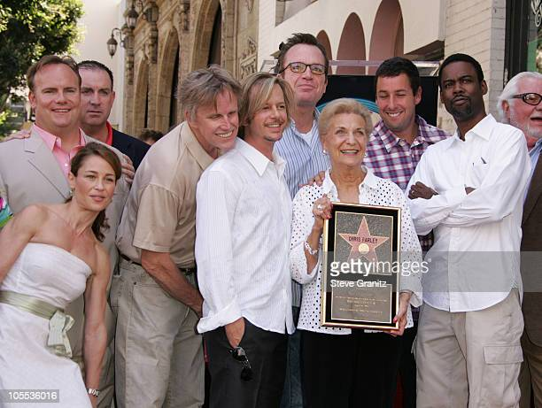 Mary Anne Farley mother of late comedian Chris Farley Julie Warner Tom Arnold Chris Rock David Spade Gary Busey and Adam Sandler