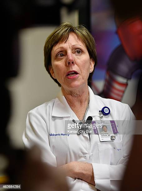 Mary Anne Jackson infectious disease director speaks about the respiratory virus EVD68 with the media on Wednesday Jan 28 at Children's Mercy...