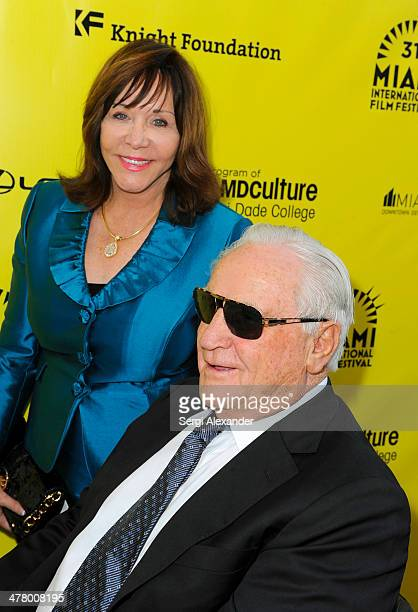 Mary Anne Shula and Don Shula attend the An Unbreakable Bond premiere during the Miami International Film Festival 2014 at Gusman Center for the...