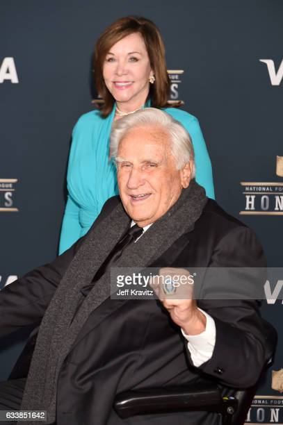 Mary Anne Stephens and NFL coach Don Shula attend 6th Annual NFL Honors at Wortham Theater Center on February 4 2017 in Houston Texas