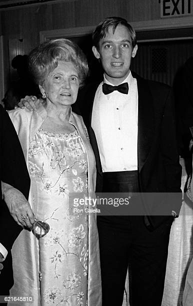 Mary Anne Trump and her son Robert Trump attend the 38th Annual Horatio Alger Awards Dinner at the Waldorf Hotel, New York, New York, May 10, 1985.
