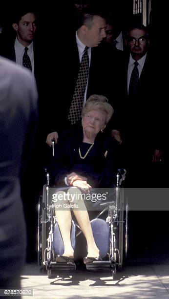 Mary Anne Trump attends Fred Trump Funeral Service on June 29 1999 at Marble Collegiate Church in New York City