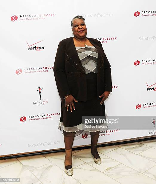 Mary Anthony mother of the New York Knicks' Carmelo Anthony attends the 2014 Dress For Success Something To Share Gala at the Grand Hyatt New York on...