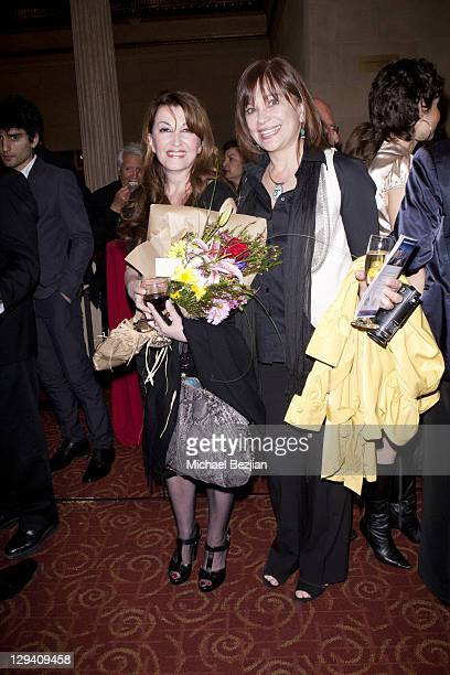 Mary Apick and Nora Armani at 'Beneath The Veil' Post Play Reception at Alex Theatre on March 11 2011 in Glendale California