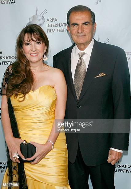 Mary Apick and Robert Papazian attend the 2008 Apra International Film Festival Closing Night Awards Gala on October 26 2008 in Los Angeles California
