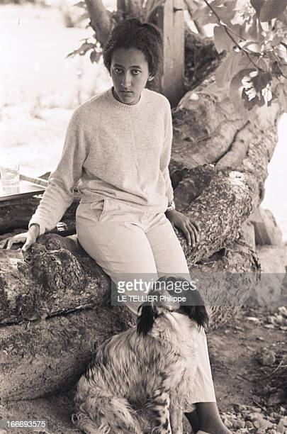Mary Asfawossen Granddaughter Of Haile Sellassie The Negus In Chavagne In France En aout 1965 en France en vacances dans le famille VILLEROY au...