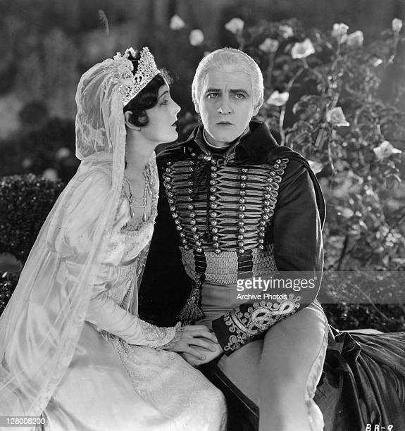 Mary Astor And John Barrymore sit in a scene from the film 'Beau Brummel' 1924