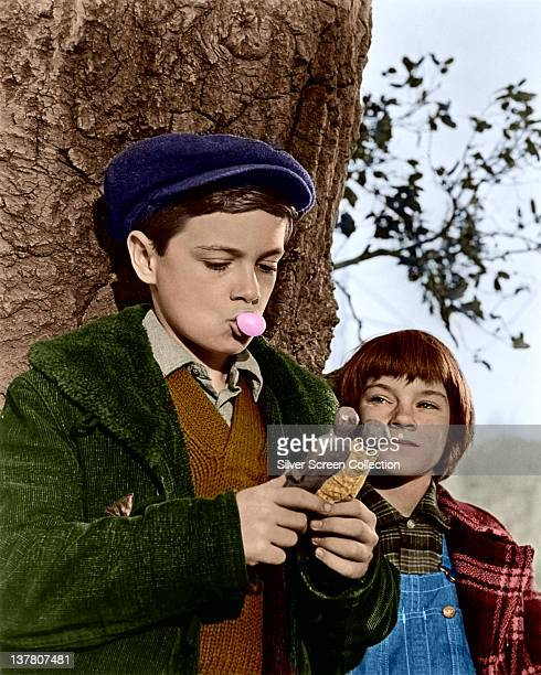Mary Badham as Scout and Phillip Alford as Jem in the film 'To Kill a Mockingbird' 1962