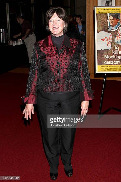Mary Badham attends the The Academy Of Arts And Sciences Celebrates 50th Anniversary Of To Kill A Mockingbird at AMPAS Samuel Goldwyn Theater on...