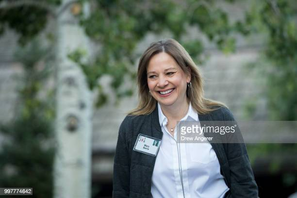 Mary Barra chief executive officer of General Motors attends the annual Allen Company Sun Valley Conference July 13 2018 in Sun Valley Idaho Every...