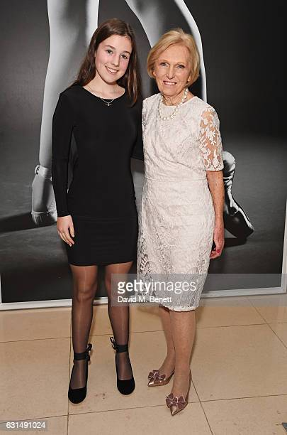 Mary Berry and granddaughter Grace Hunnings attend the opening night reception of the English National Ballet's production of 'Giselle' hosted by St...