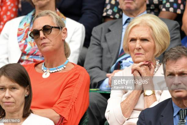 Mary Berry and her daughter Annabel Hunnings attend day eight of the Wimbledon Tennis Championships at the All England Lawn Tennis and Croquet Club...